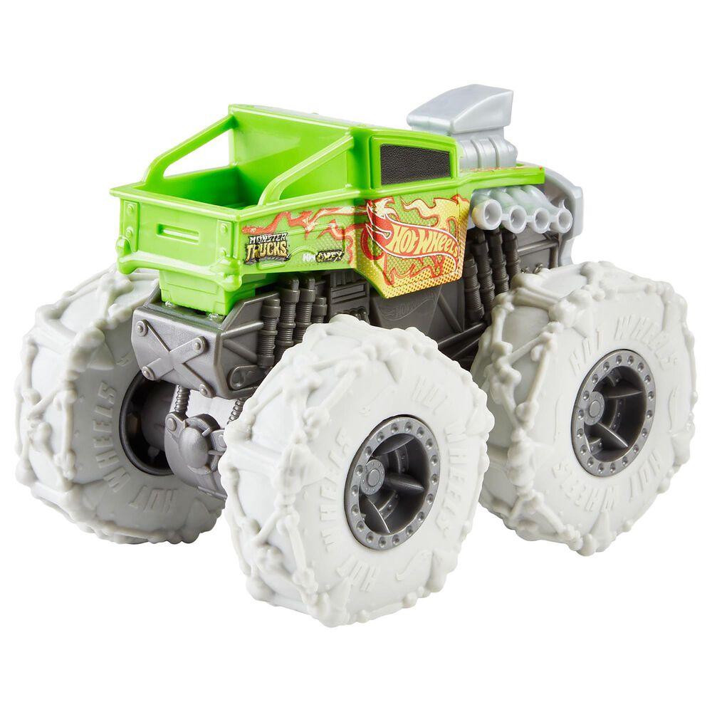 Hot Wheels Monster Trucks Twisted Tredz Bone Shaker Vehicle in Green, , large