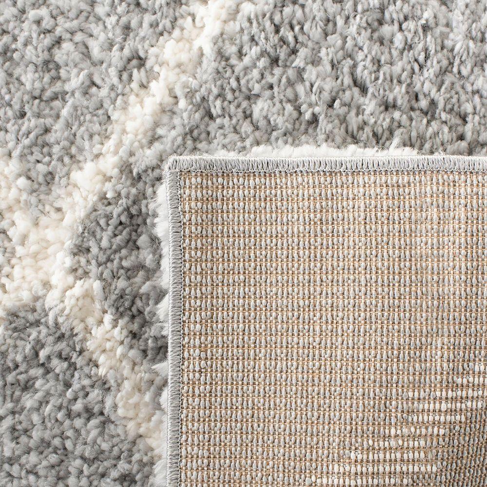 Safavieh Parma Shag PMA515G 8' x 10' Grey and Cream Area Rug, , large