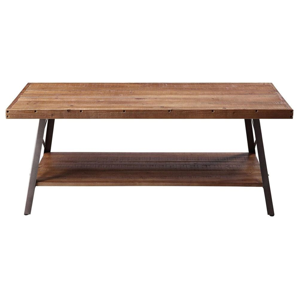 Gunnison Co. Ikram Coffee Table in Weathered Oak and Sandy Black, , large