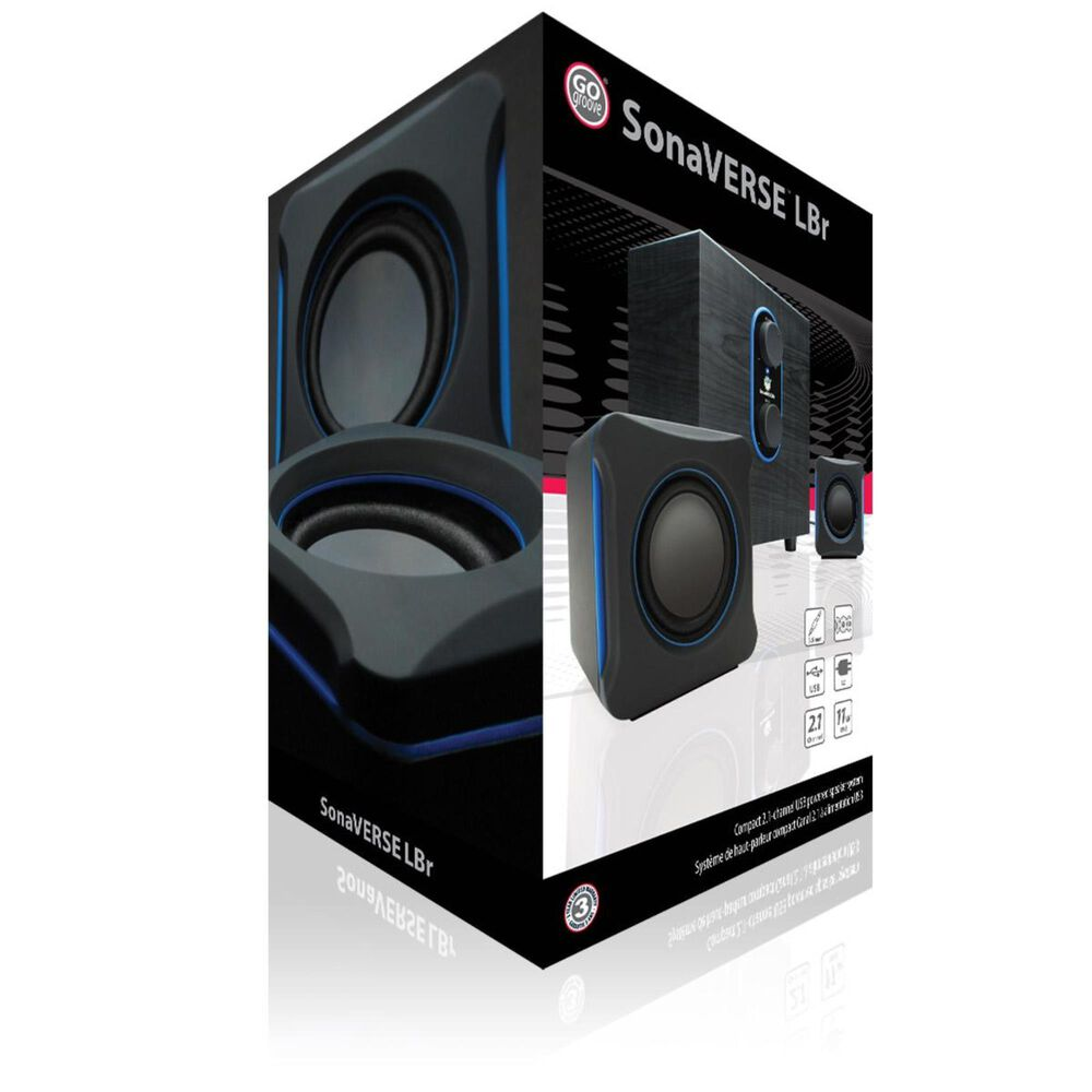 Go Groove LBr 2.1 Channel Home Theater Computer Speaker System, , large