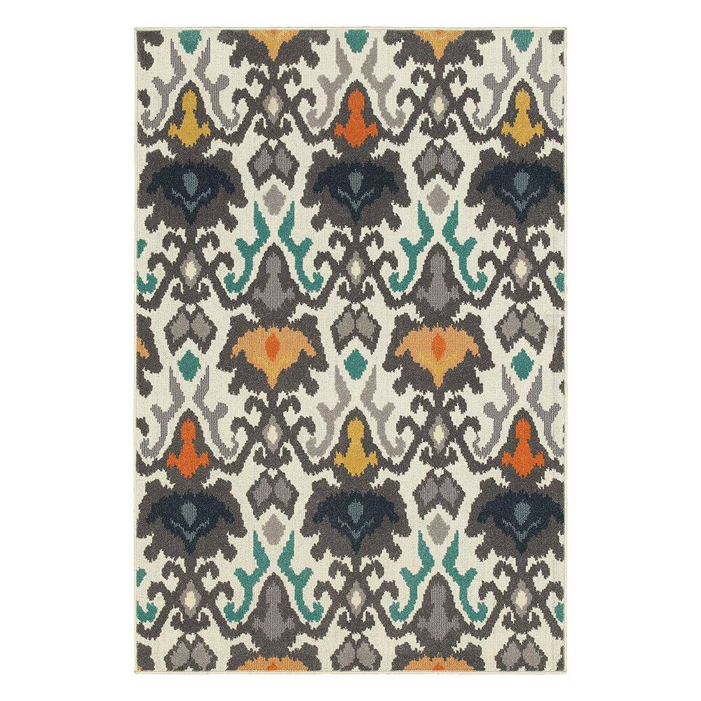 "Oriental Weavers Hampton 530W5 1""11"" x 7""6"" Ivory Runner, , large"