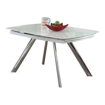 Monroe Alina Table in Super White and Chrome - Table Only, , large