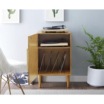 Crosley Furniture Everett Record Player Stand in Acorn, , large