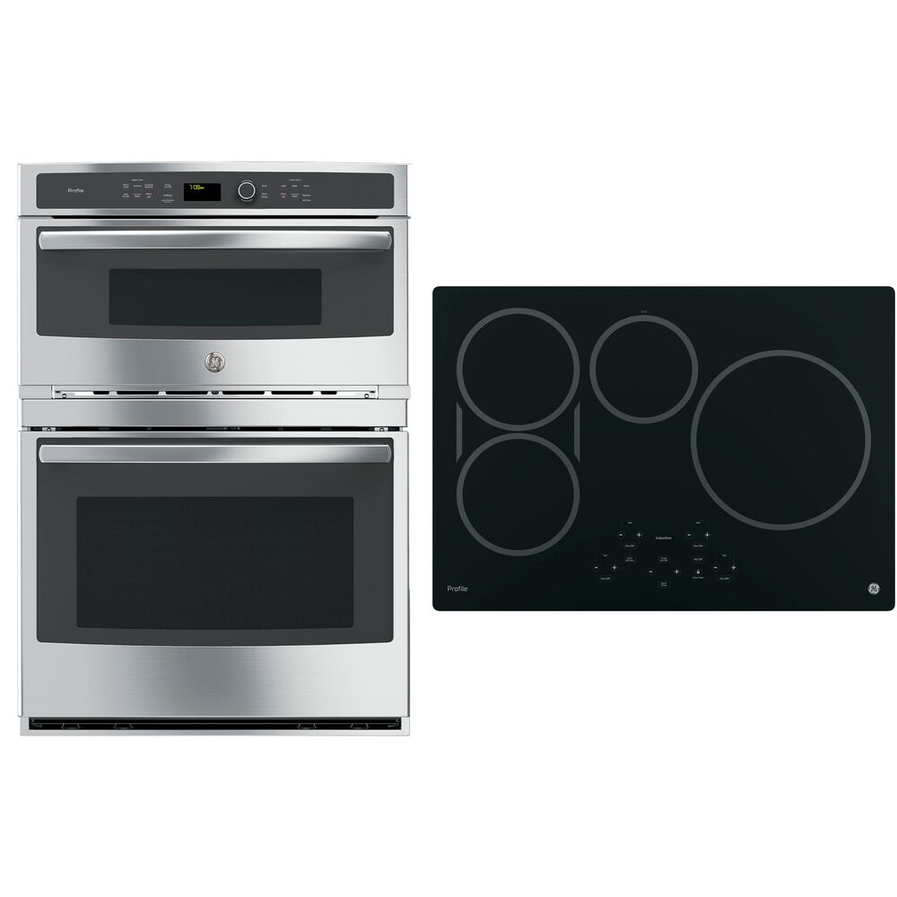 """GE Profile 30"""" Induction Cooktop with 30"""" Built-In Combination Microwave/Wall Oven in Stainless Steel, , large"""