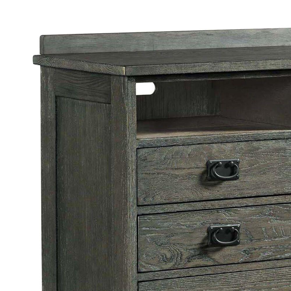 Hawthorne Furniture Oak Park 6 Drawer Media Chest in Pewter, , large