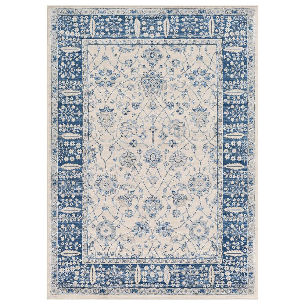 Surya Monaco MOC-2317 2' x 3' Navy, Cream and Silver Gray Scatter Rug, , large