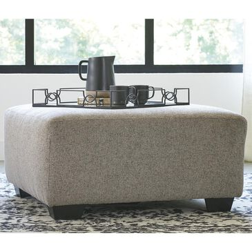 Signature Design by Ashley Ballinasloe Oversized Accent Ottoman in Platinum, , large