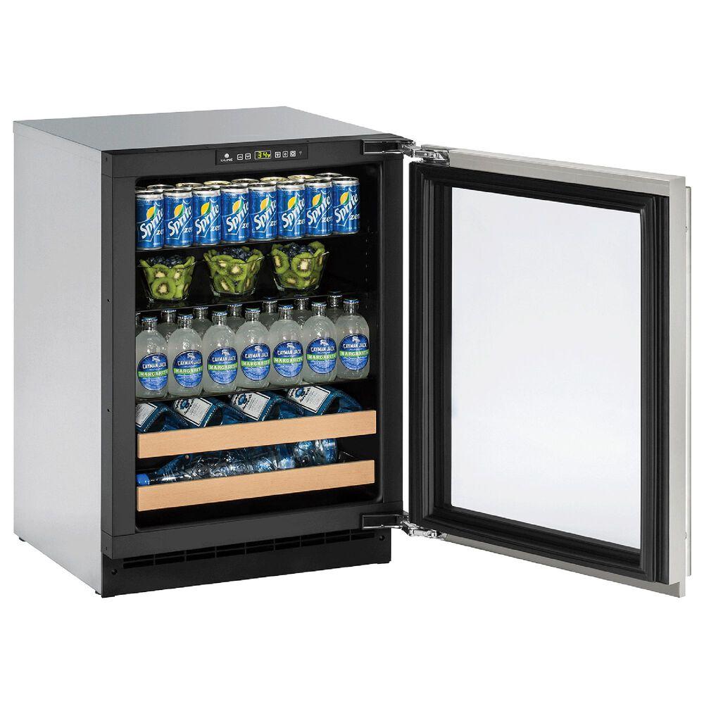 U-Line 4.9 Cu. Ft. Glass Reversible Door Beverage Center in Stainless Steel, , large