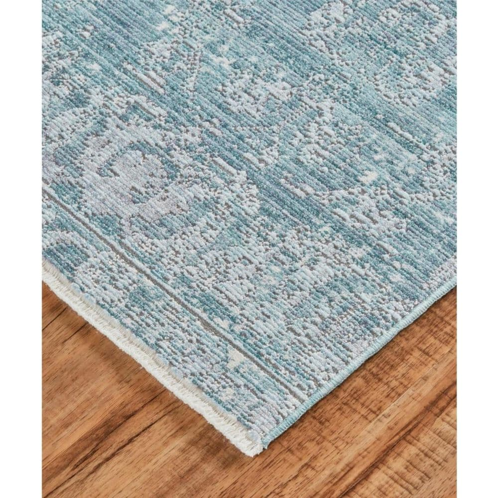 Feizy Rugs Cecily 3595F 4' x 6' Blue and Turquoise Area Rug, , large