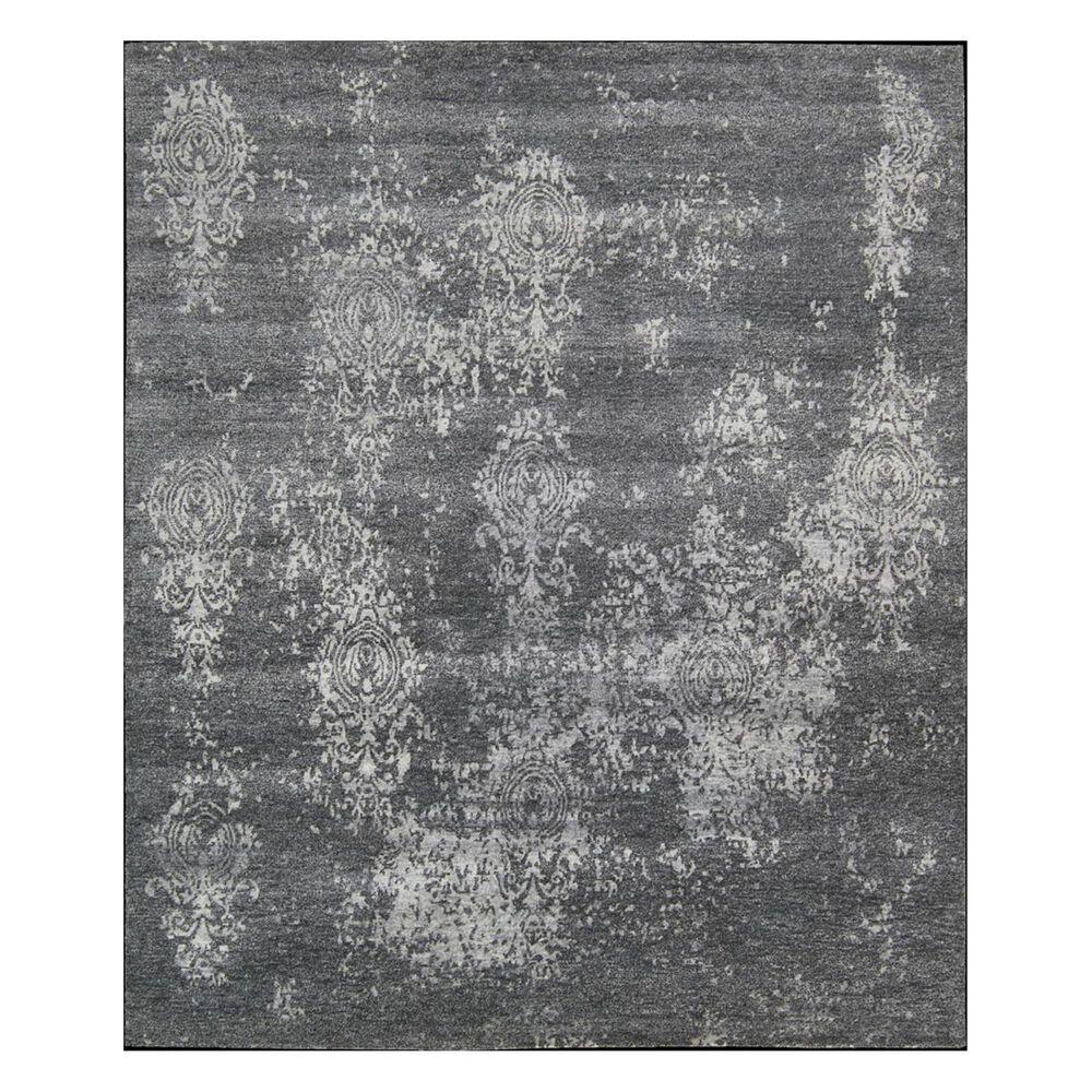 "Nourison Silk Shadows SHA14 3'9"" x 5'9"" Graphite Area Rug, , large"