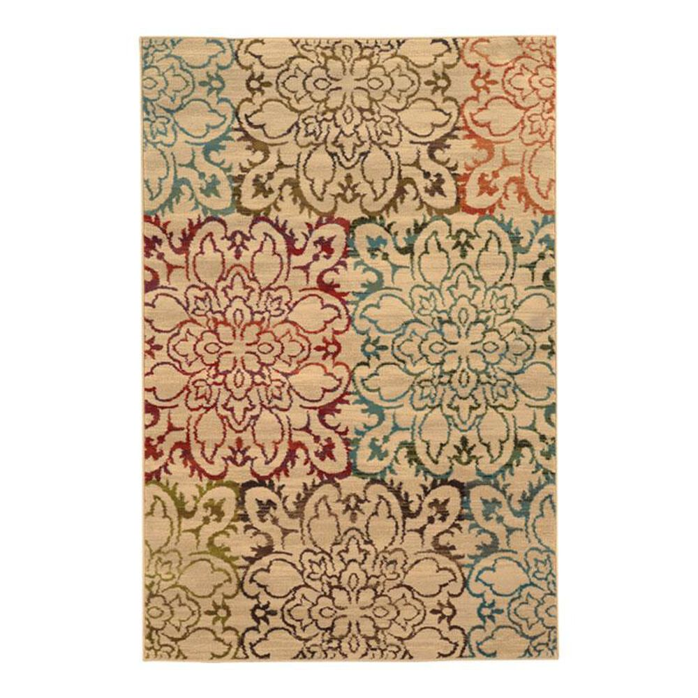 """Oriental Weavers Emerson 4872A 6""""7"""" x 9""""6"""" Ivory Area Rug, , large"""