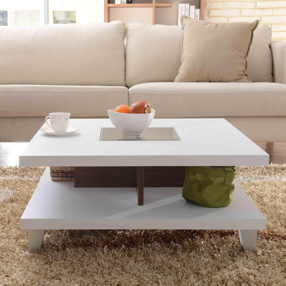 Furniture of America Humphrey Storage Coffee table in White, , large
