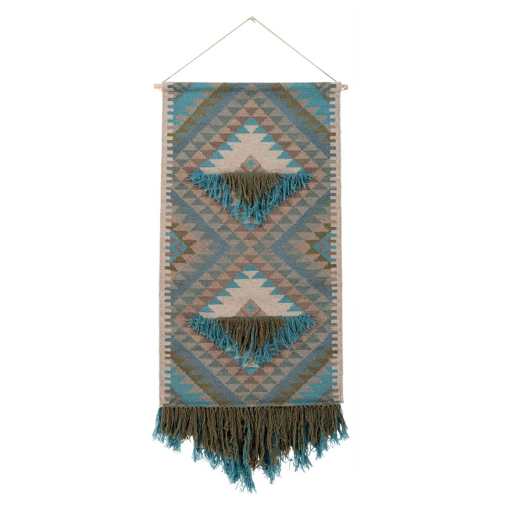 Surya Inc Adia Wall Hanging in Teal and Brown, , large