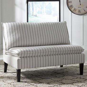 Signature Design by Ashley Arrowrock High Back Accent Bench in White/Gray, , large