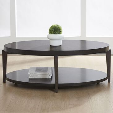 Belle Furnishings Penton Oval Cocktail Table in Espresso, , large