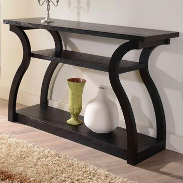 Furniture of America Kemp Console Table in Black, , large