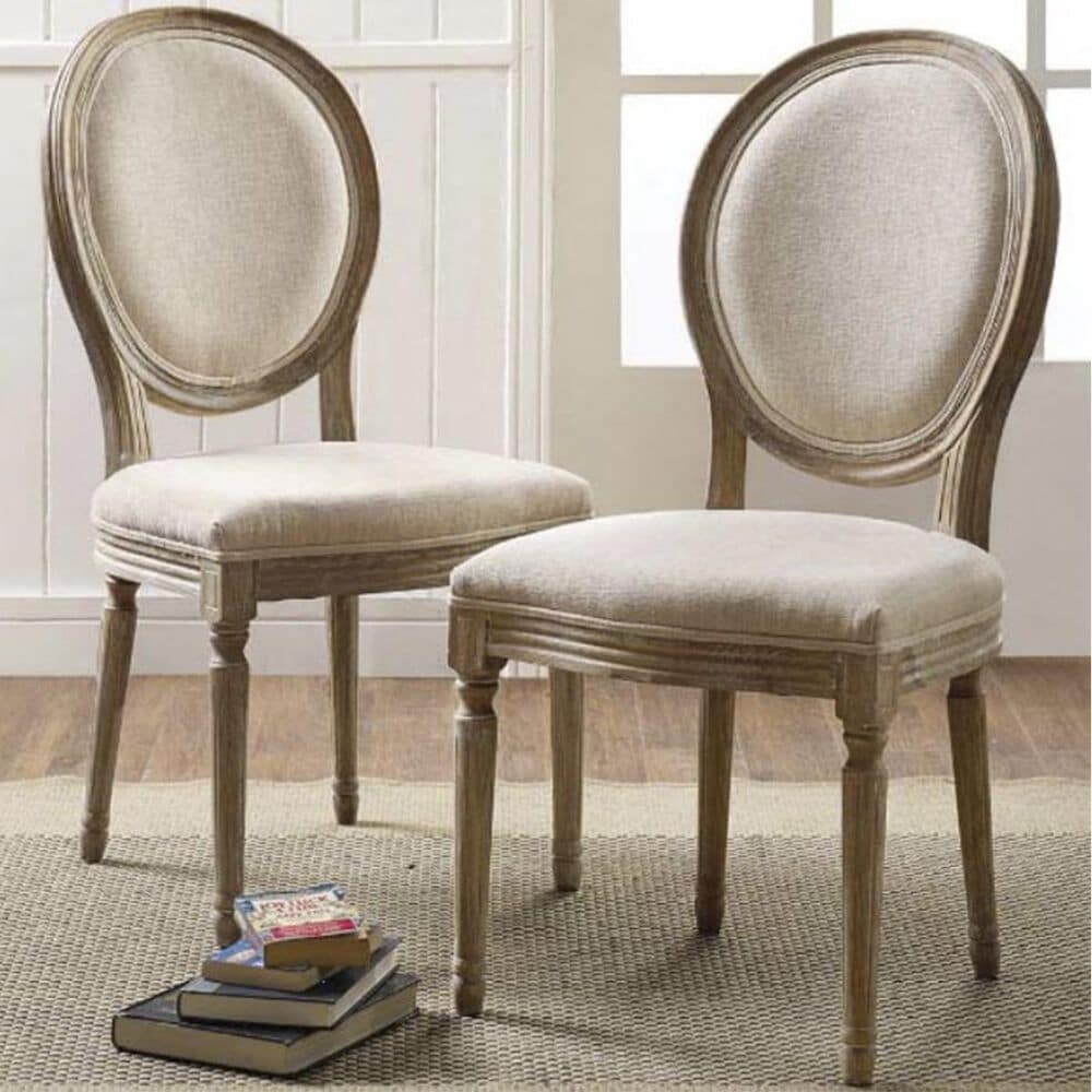 Linden Boulevard Oval Back Side Chair in Off-White, , large