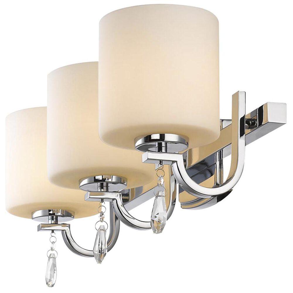 Golden Lighting Evette 3-Light Bath Vanity in Chrome with Opal Glass, , large
