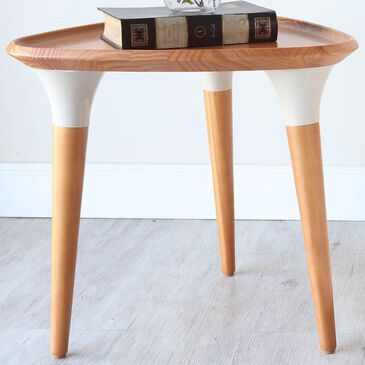 Dayton HomeDock Side Table in Cinnamon/Off White, , large
