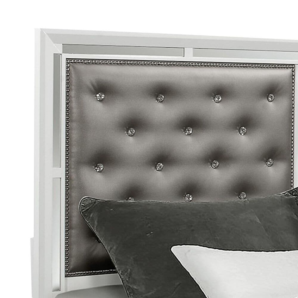 Global Furniture USA Mackenzie Queen Panel Bed in White, , large