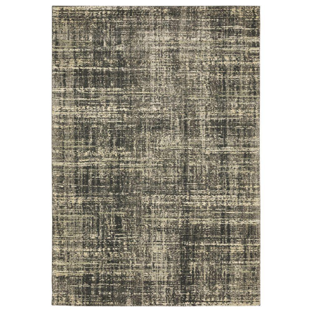 "Oriental Weavers Astor Nikko 3'10"" x 5'5"" Charcoal Area Rug, , large"