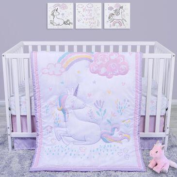 Trend Labs Sammy and Lou Sweet Unicorn 4-Piece Crib Bedding Set, , large