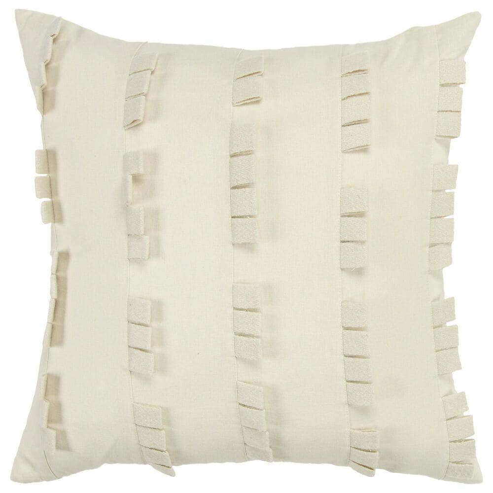 """Rizzy Home Donny Osmond Solid 20"""" Pillow Cover in Ivory, , large"""