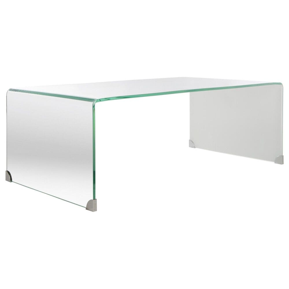 Safavieh Crysta Coffee Table in Clear and White, , large