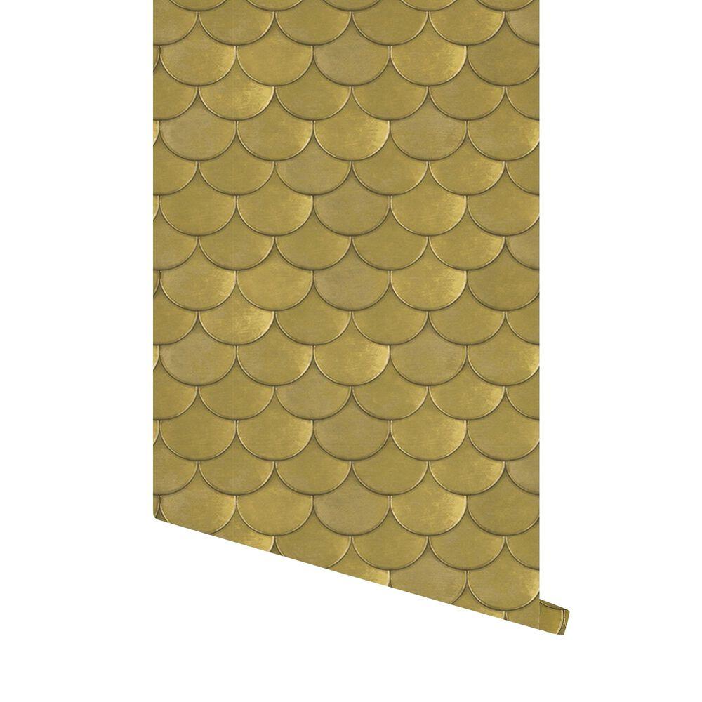Tempaper Genevieve Gorder Brass Belly Old World Brass Metallic Peel and Stick Wallpaper, , large