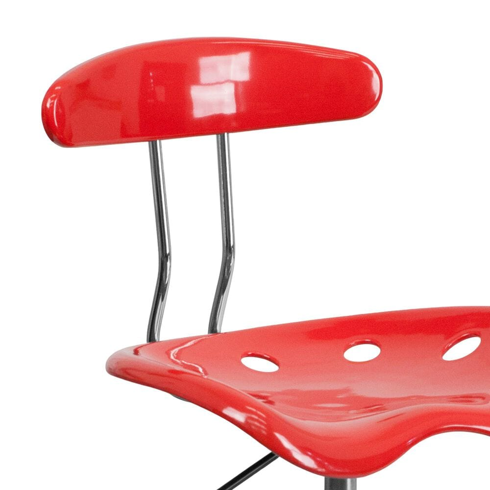Flash Furniture Vibrant Swivel Task Chair in Red, , large