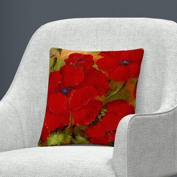 Timberlake Rio 'Poppies 2' 16 x 16 Decorative Throw Pillow, , large