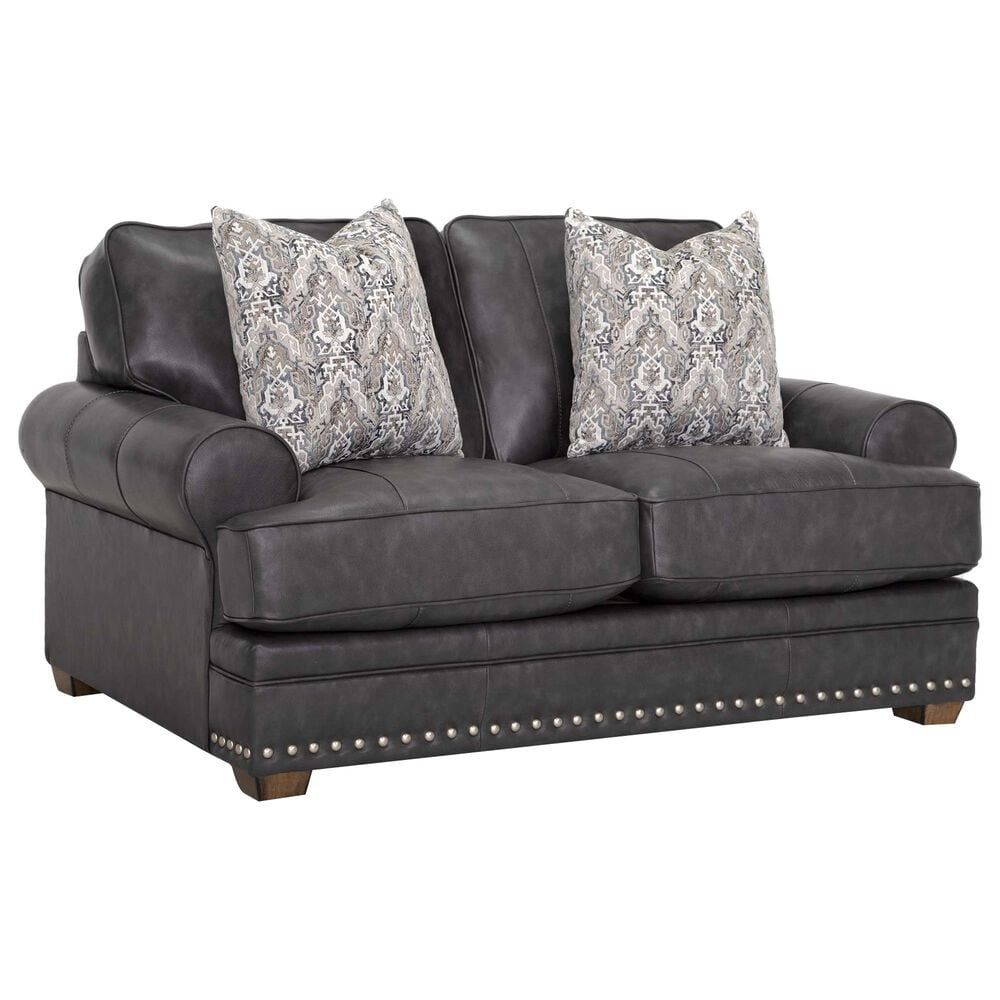 Moore Furniture Della Stationary Loveseat in Florence Steel, , large