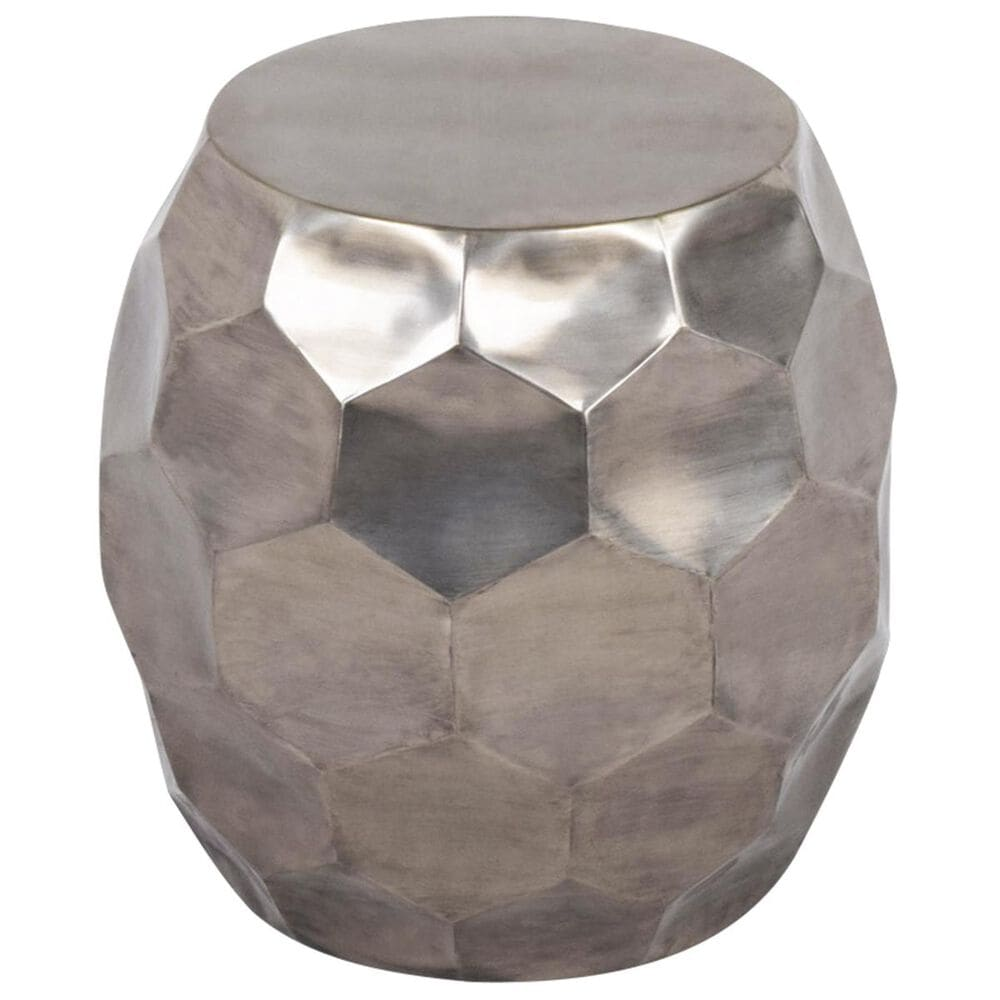 Crystal City India Round Accent Table in Nickel, , large