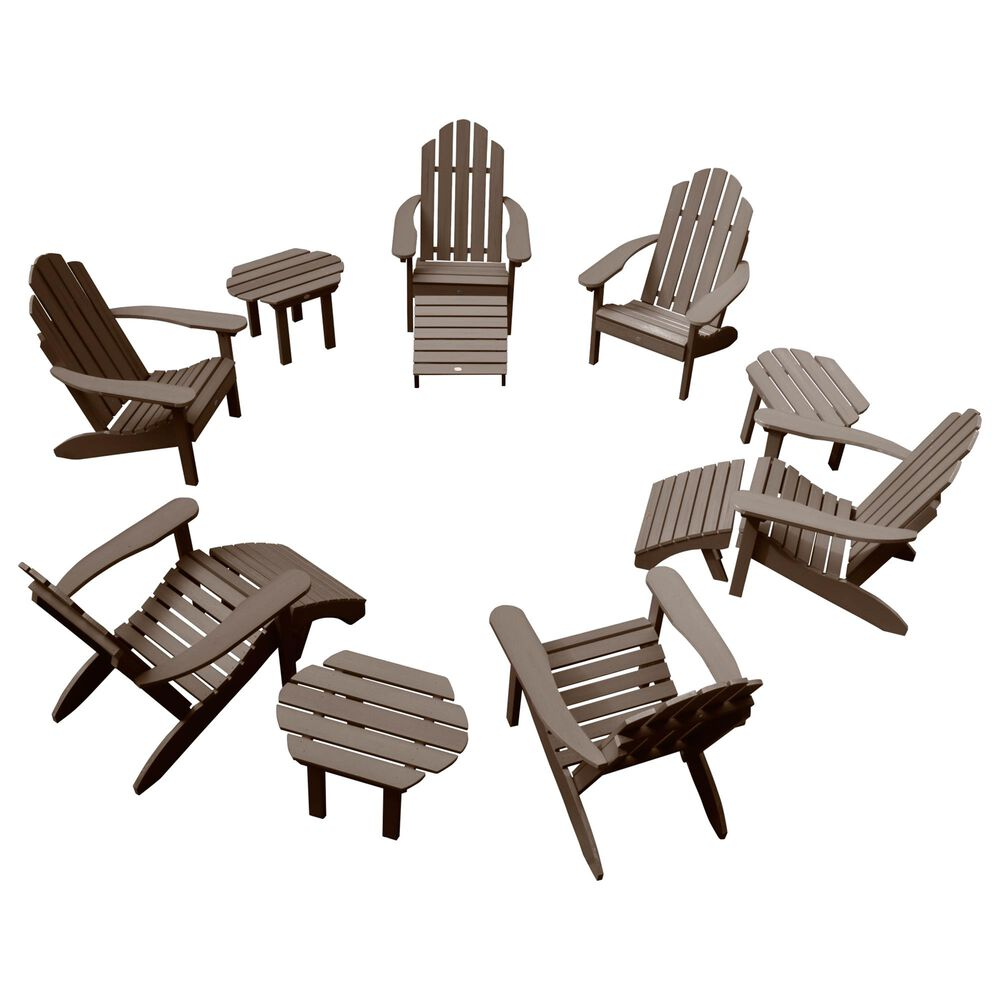 Highwood USA Classic Westport 12-Piece Adirondack Chair Set in Weathered Acorn, , large