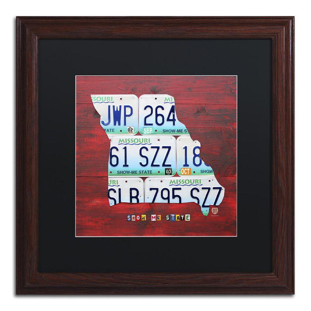 "Timberlake 11"" x 11"" Missouri Art in Black Matting, , large"