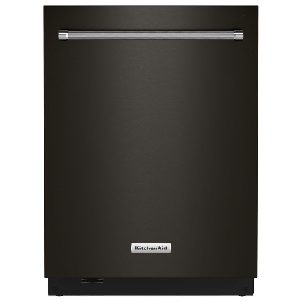 KitchenAid 44 dBA Built-In Bar Handle Dishwasher with FreeFlex 3rd Rack and Top Control in Black Stainless Steel, , large