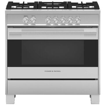 """Fisher and Paykel 36"""" Freestanding Gas Ranges in Stainless Steel, , large"""