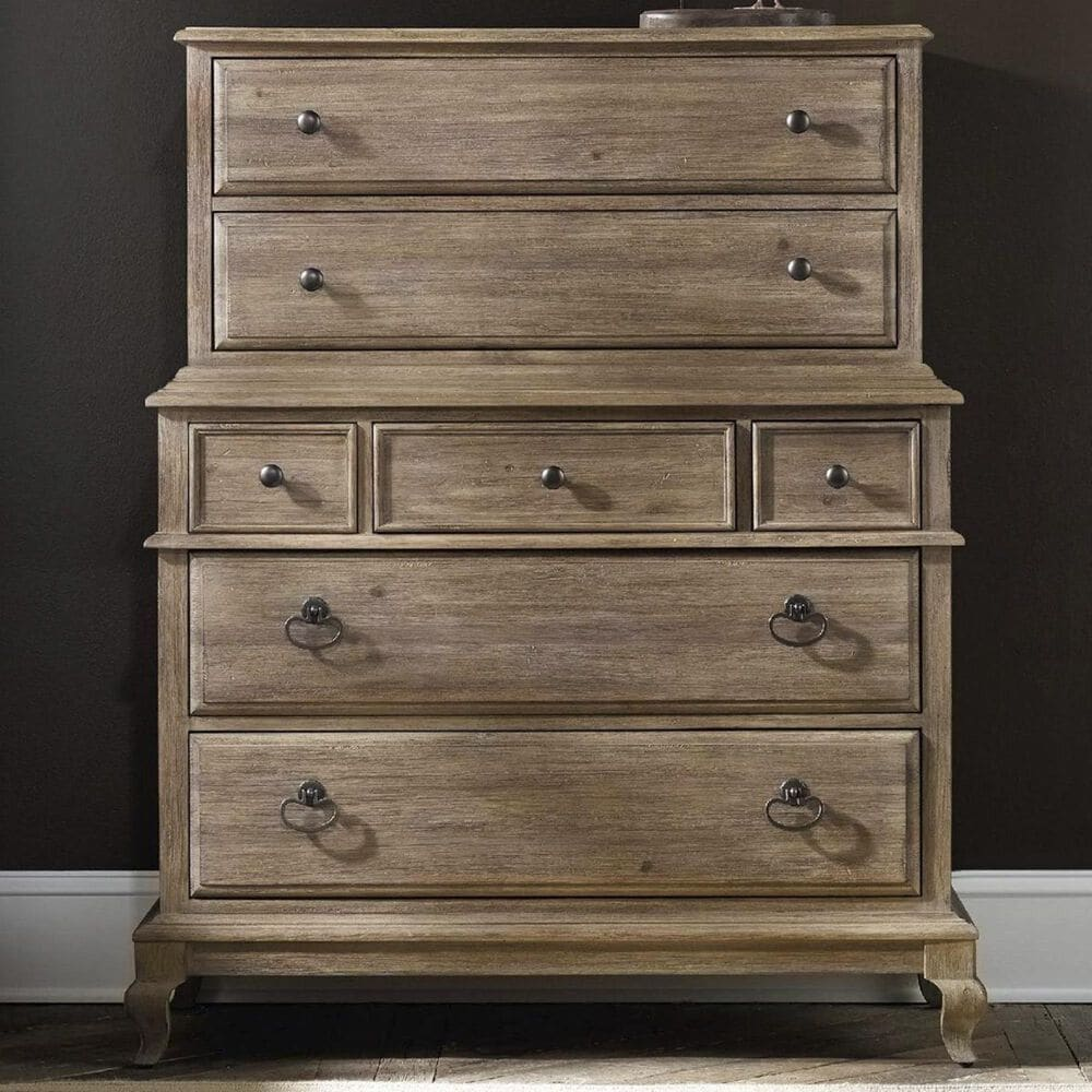 Hooker Furniture Corsica Chest on Chest in Light Natural, , large