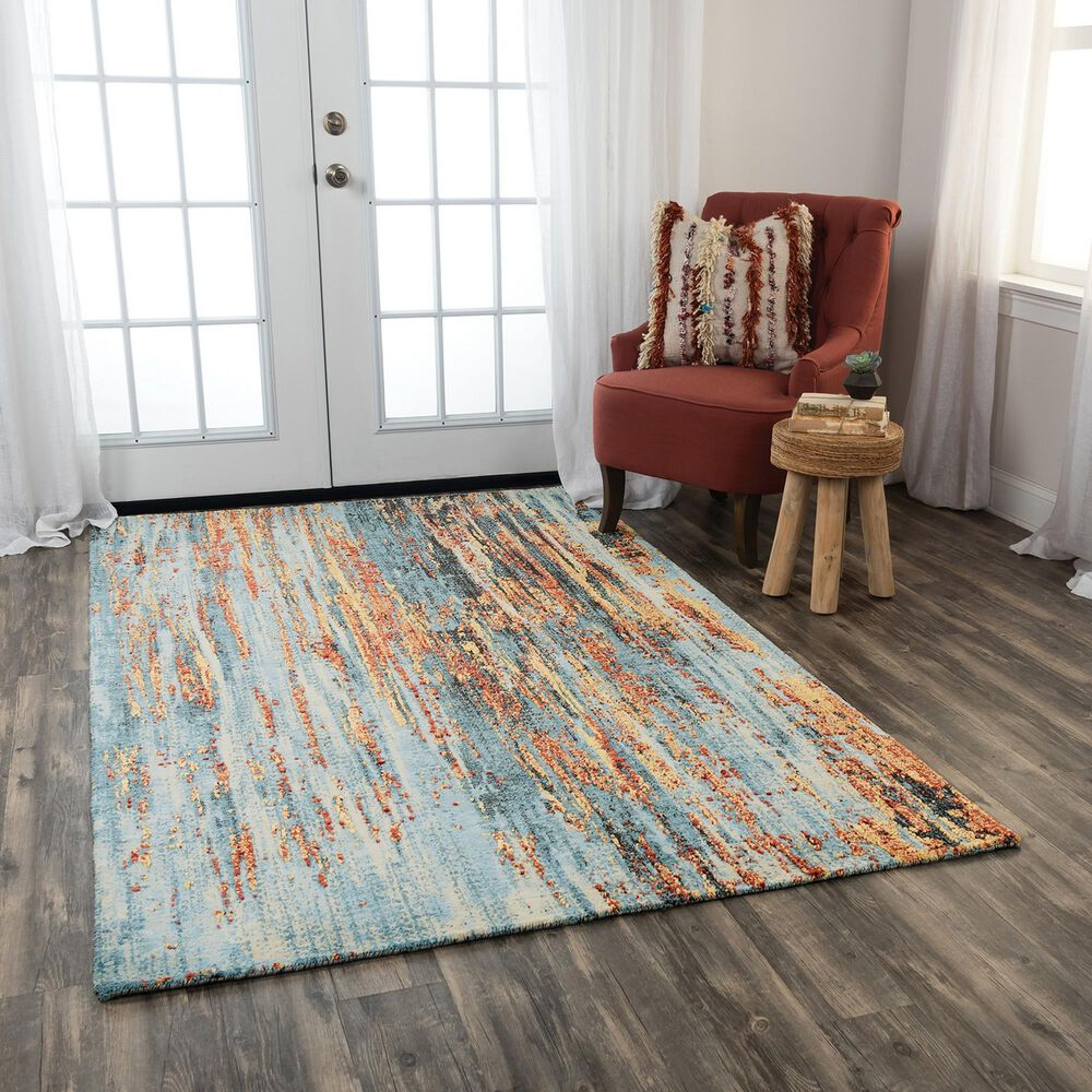 RIZZY Premier PMR103 8' x 10' Blue Area Rug, , large