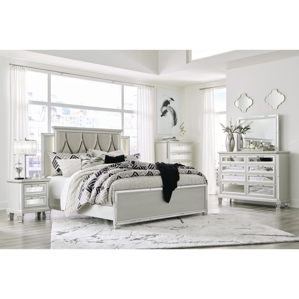 Signature Design by Ashley Lindenfield King Panel Bed in Champagne, , large