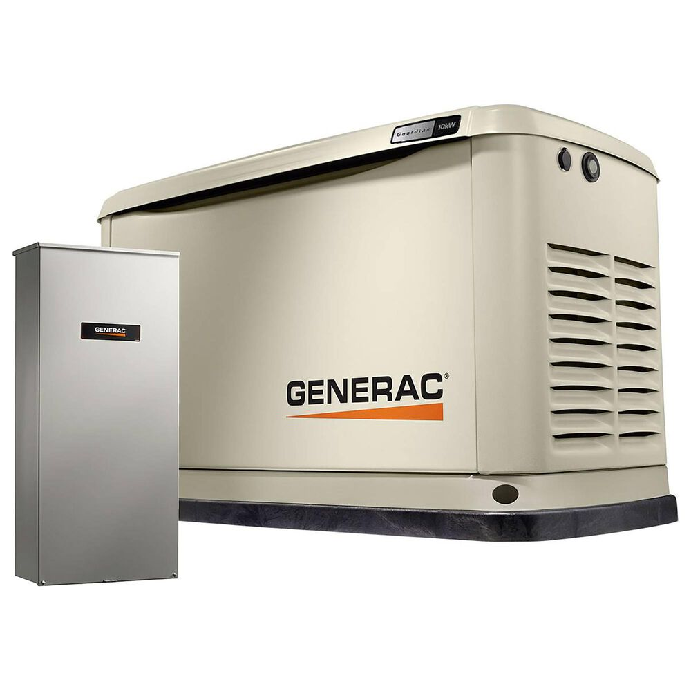 Generac Guardian 10000-Watt Home Backup Generator with 100 Amp 16-Circuit Transfer Switch, , large