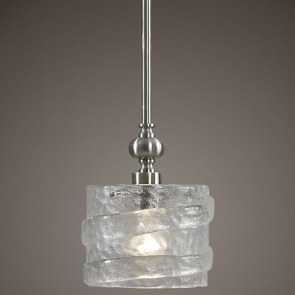 Uttermost Mossa 1 Light Mini Pendant in Satin Nickel, , large