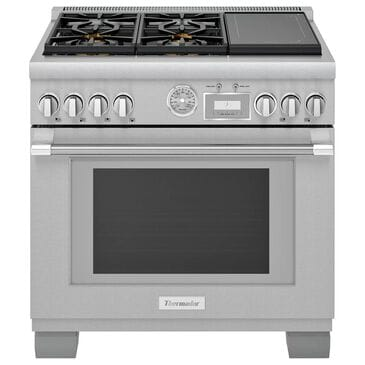 """Thermador 36"""" Professional Dual Fuel Range in Stainless Steel, , large"""