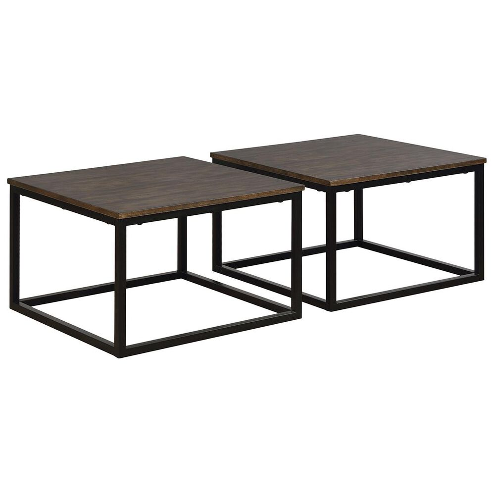 Bolton Furniture Arcadia Bunching Coffee Table Set in Antique Mocha, , large