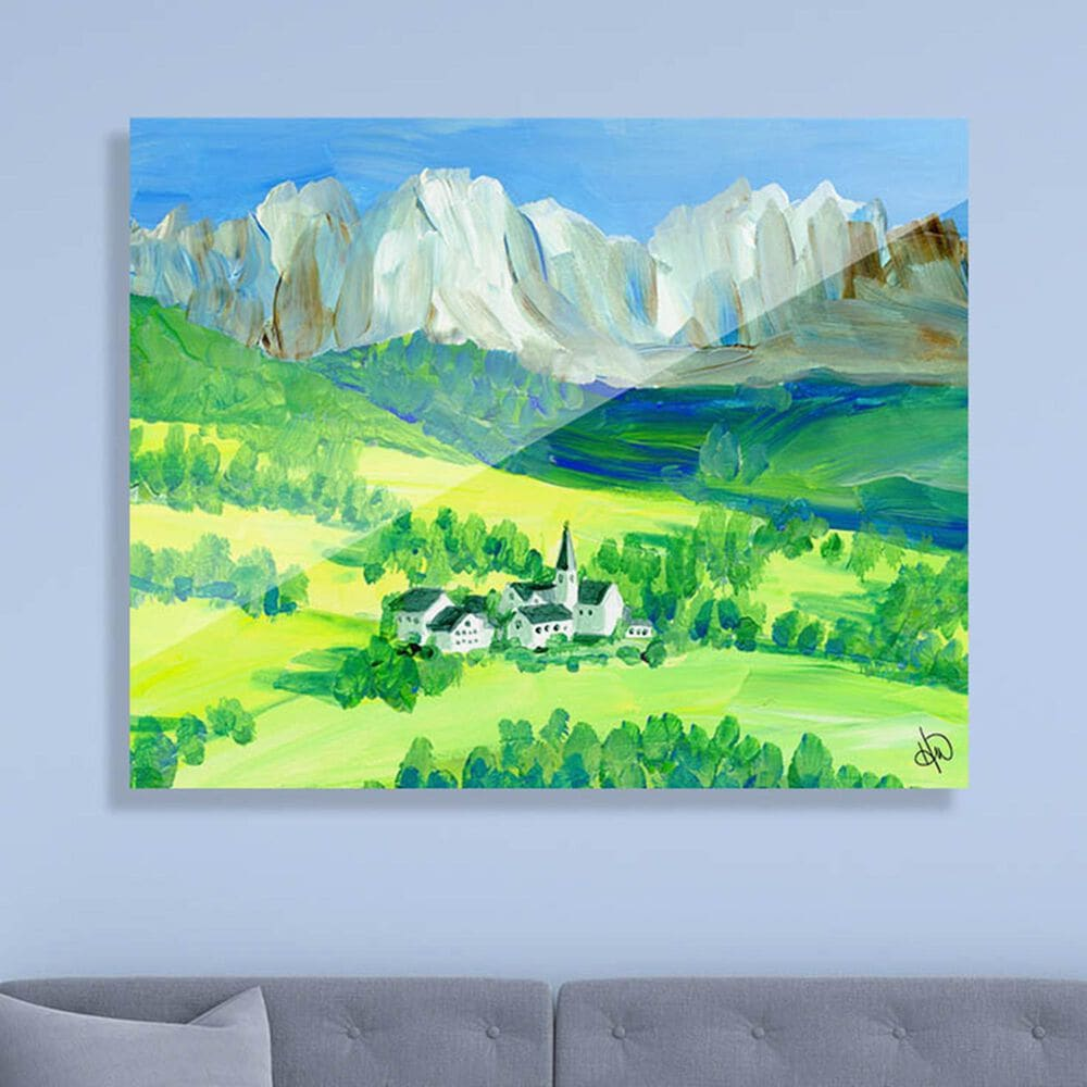 "Kathy Ireland Home ""Swiss Alps"" 16"" x 20"" Acrylic Wall Art Print, , large"