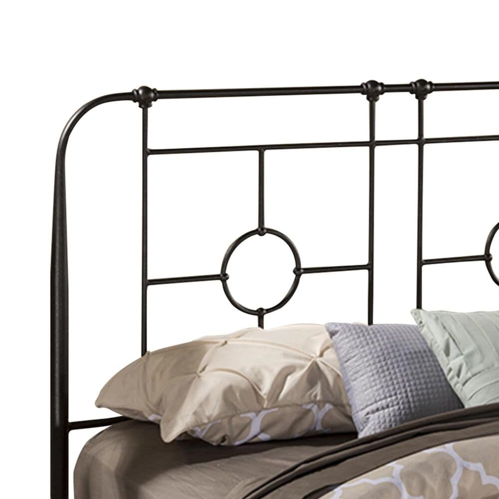 Richlands Furniture Trenton Full/Queen Metal Panel Headboard in Black Sparkle, , large