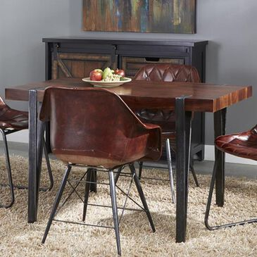 Shell Island Furniture Bradley Dining Table in Honey Brown and Antique Gunmetal, , large