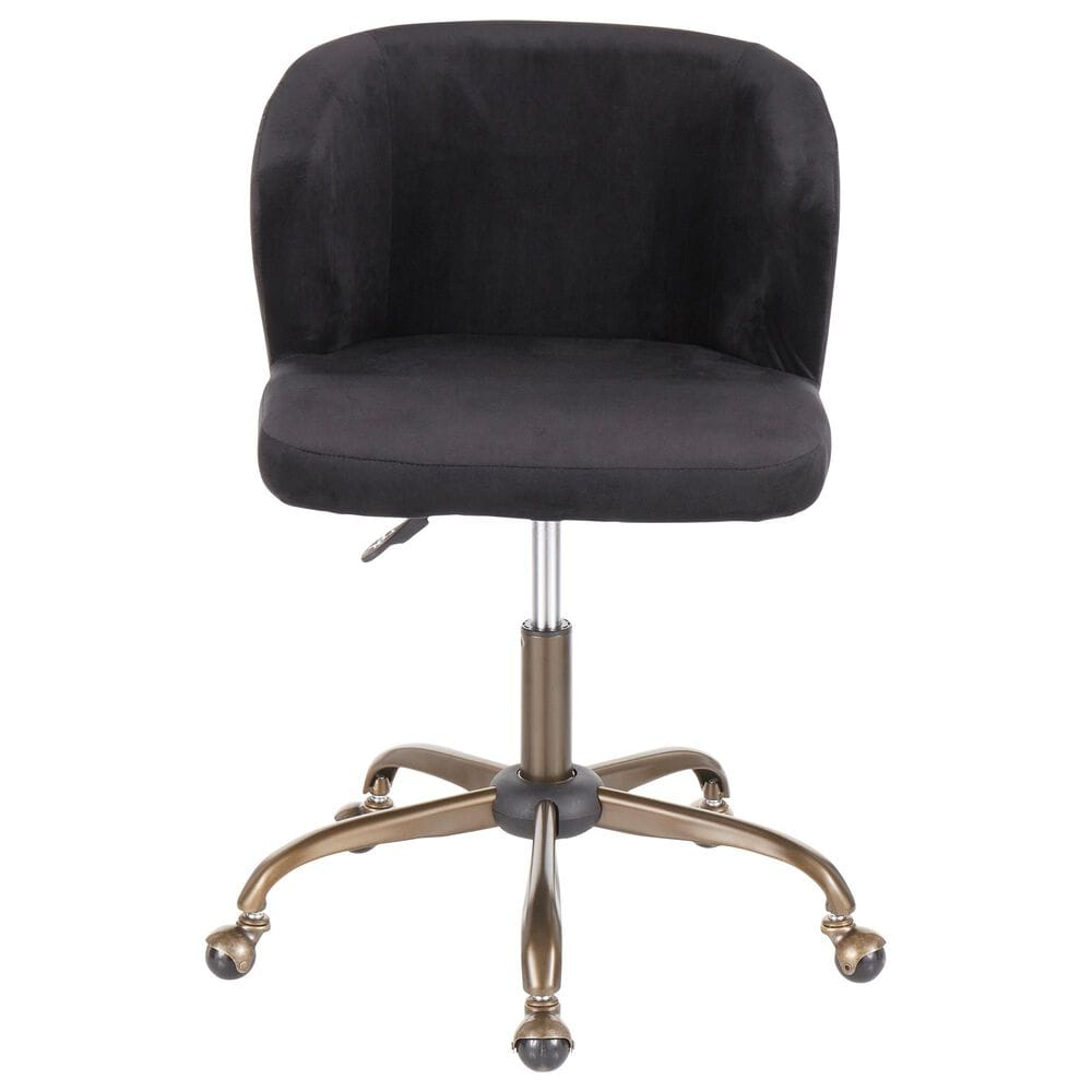 Lumisource Luna Task Chair in Black/Antique, , large