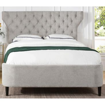 Jennifer Taylor Home Robyn Queen Panel Bed in Silver Grey, , large