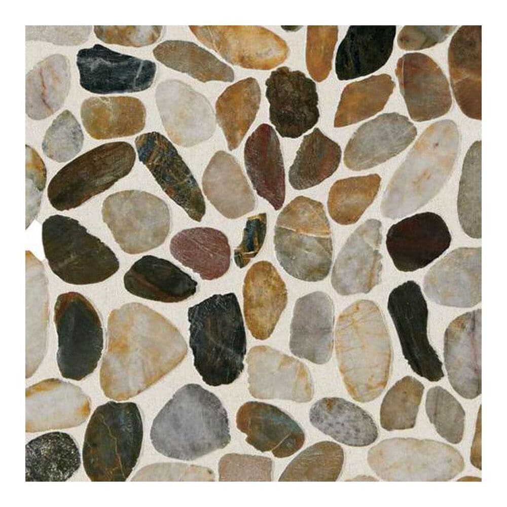 "Dal-Tile Stone Mosaics Earthy Blend 12"" x 12"" Porcelain Mosaic Sheet, , large"